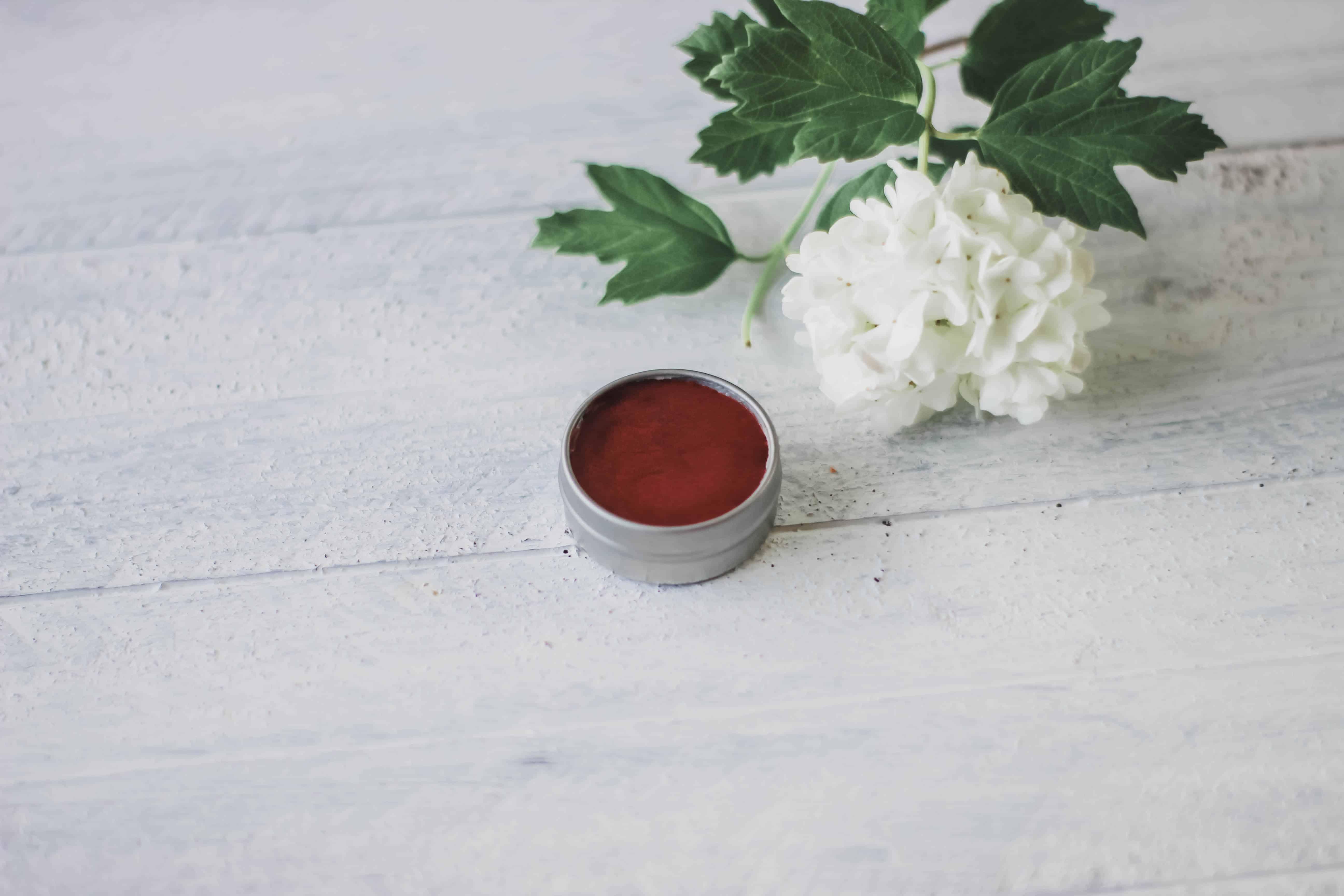 Tinted lip balm recipe hibiscus