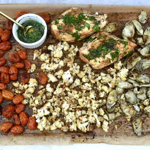Sheet pan chicken with roasted veggies