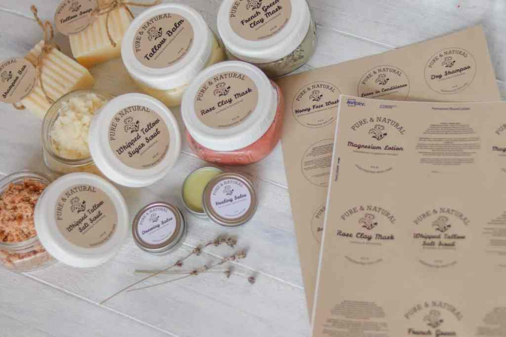 printable skincare product labels