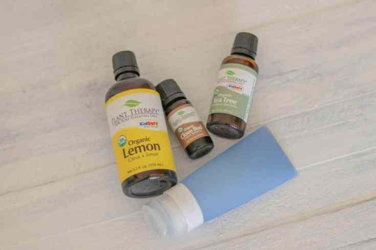 Hand sanitizer essential oils