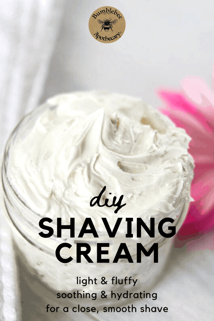 A light and fluffy diy shaving cream you can easily make at home with nourishing, natural ingredients. #diy #shavingcream #shaving #cream #natural
