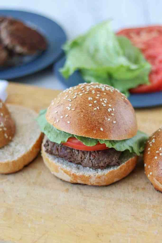 Sourdough hamburger buns recipe