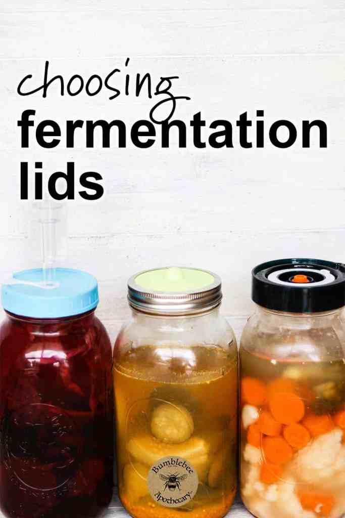 All about using fermentation lids for mason jars. How to choose fermentation lids, how to use easy fermentation lids. DIY versus purchased. #healthyrecipes #nutrition #healthandfitness