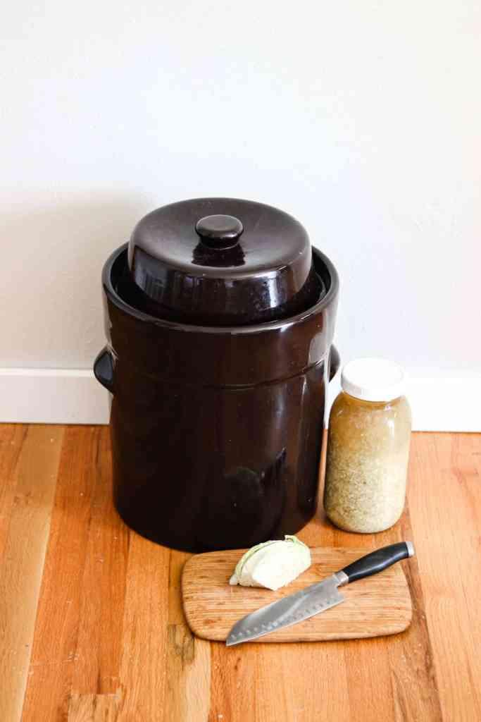 How to make sauerkraut crock