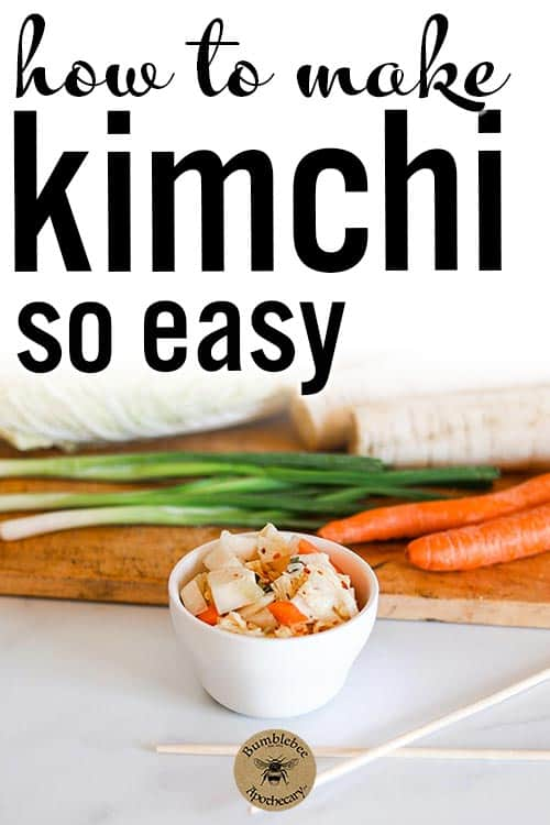 An easy homemade kimchi recipe that is delicious, healthy, and probiotic. Perfect for paleo, whole 30, AIP, and GAPS diet. Kimchi recipe ideas healthy, easy, Korean, traditional, best. #foodanddrink #healthyrecipes #fermented