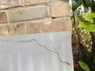 image of a cracking foundation