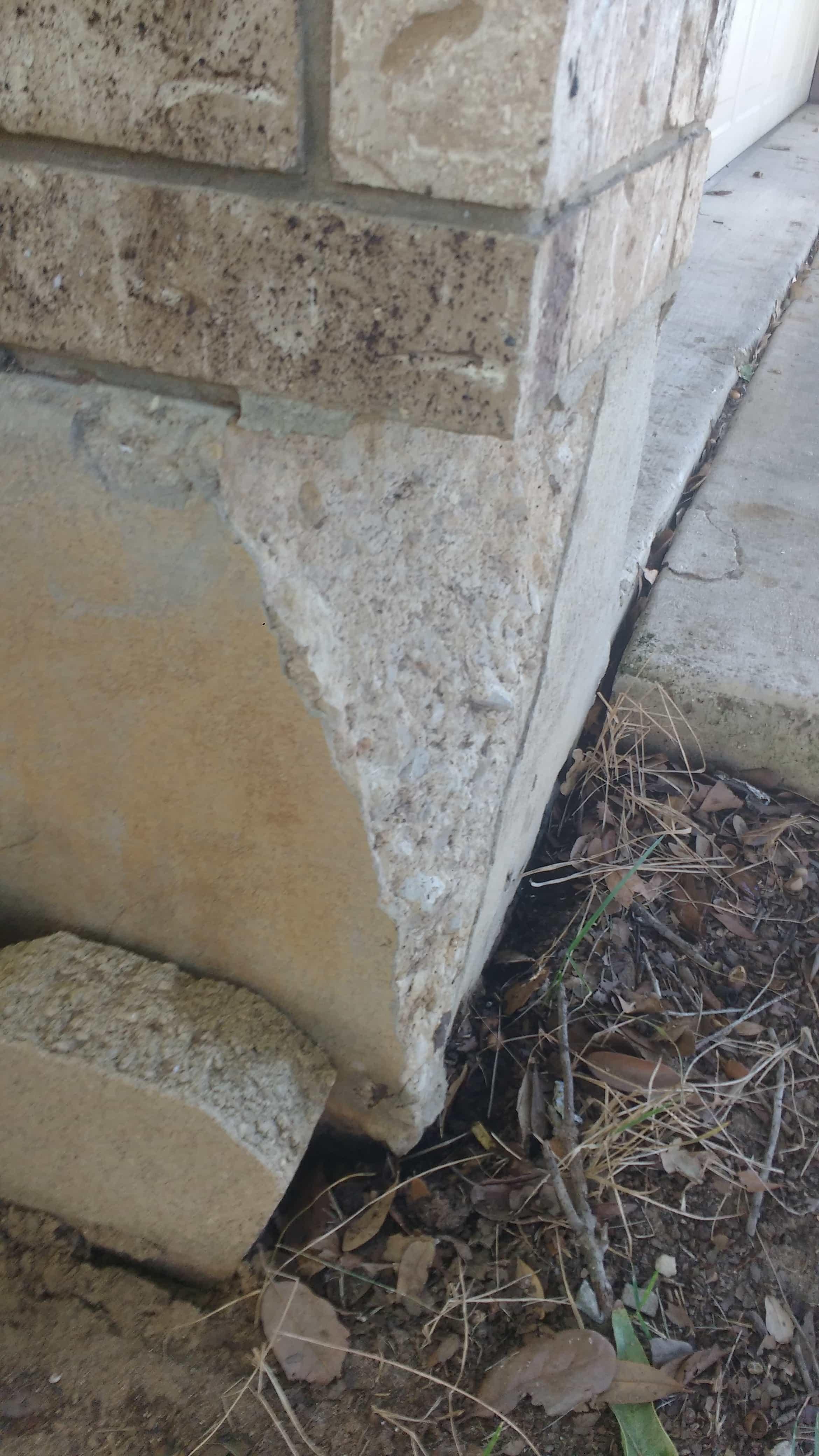 foundation with wedge cracks