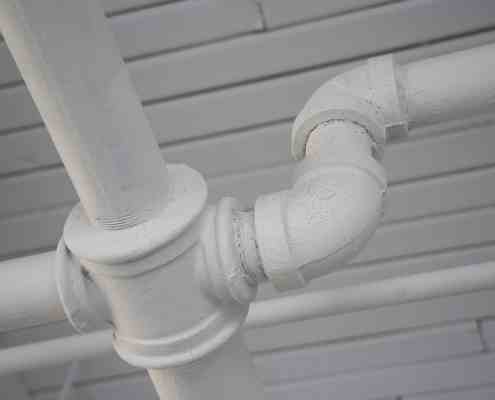 white pipes, plumbing