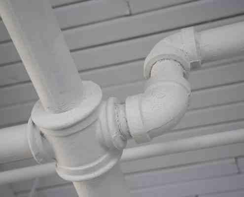 white pipes, plumbing