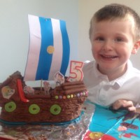 Pirate Ship Birthday Cake for my 5 year old Pirate
