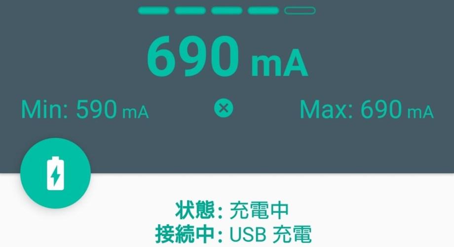 USB充電の充電速度