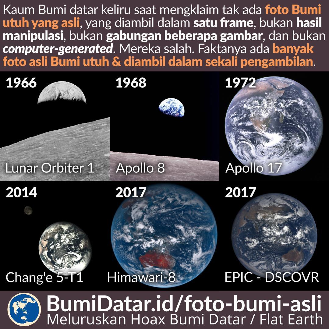 Foto Bumi Keseluruhan yang Asli