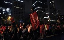 Brazil's Homeless Workers' Movement protest against the World Cup in Sao Paulo