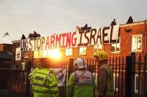 Demonstran Inggris Pro Palestina Duduki Pabrik Israel di Inggris 03