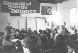 SYA Second National Conference, Melbourne Pram Factory, Easter 1971. Ian Macdougall speak