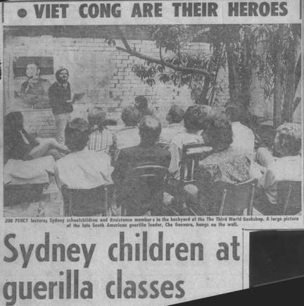 The Telegraph makes a scandal of our posed guerilla training classes. Jim Percy speaking, John Percy chairing.