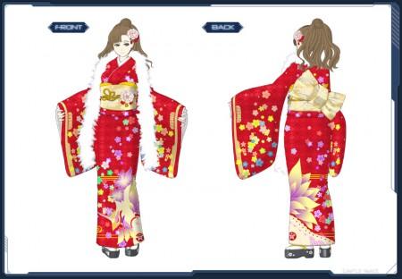 Miyabi Furisode art