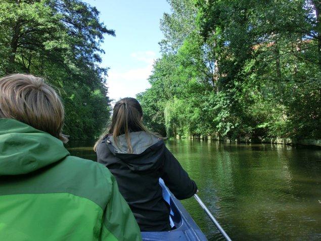 Kanu fahren auf der Alster