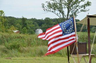 die amerikanische Flagge sah je nach Anzahl der Staaten immermal anders aus