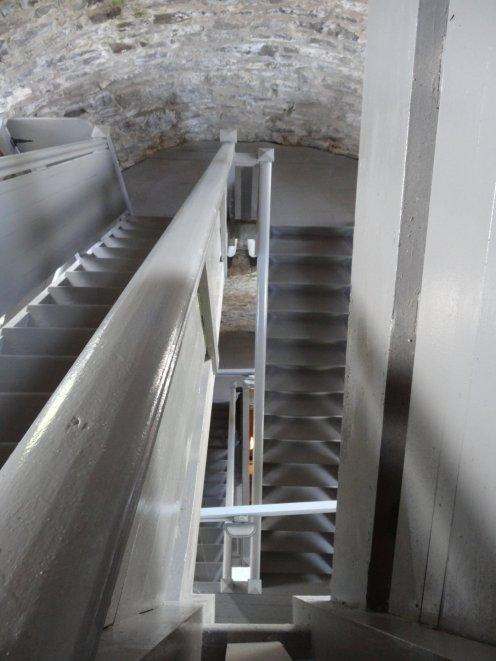 Innen war nur das Treppenhaus