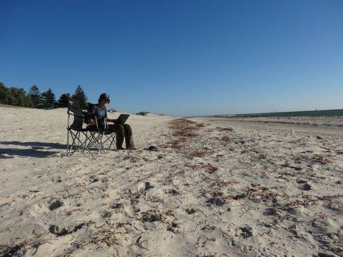 Letzter Abend in Australien - gemütlich am Meer sitzen