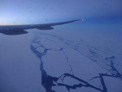 Eisplatten über der Bering-Straße