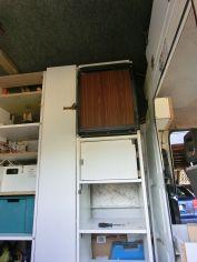 Der Kühlschrank - sieht alt aus - ist aber neu und funktioniert super