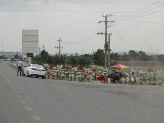 Blumenverkäufer auf dem Weg zum Mausoleum