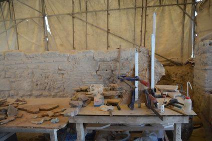 Bastelarbeit der Archeologen