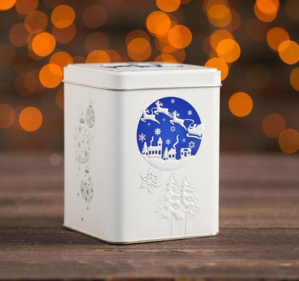 """Подарочная коробка """"Новогодняя"""", синяя"""