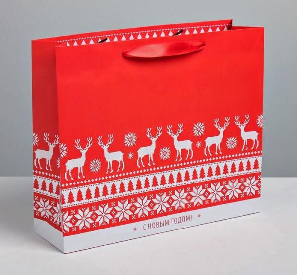 Пакет ламинированный «Тёплого Нового года»