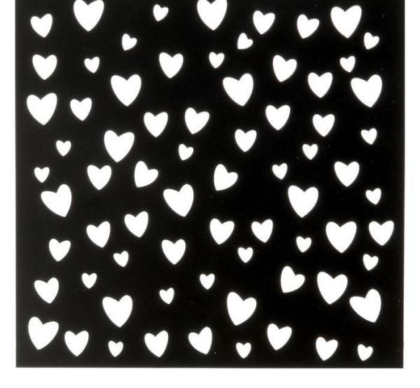 Трафарет для творчества «Сердечки»