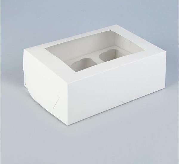Коробка на 6 капкейков с окном