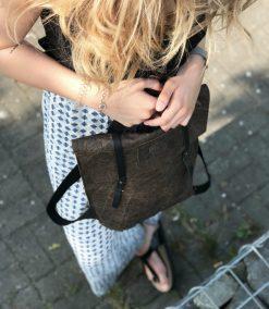 2 in 1 rucksack handtasche STACY nut