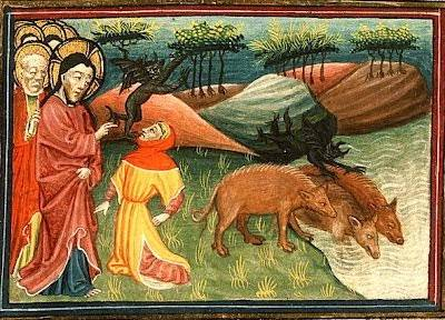 Vindecarea celor doi demonizati din tinutul Gadarei Exorcismul lui Iisus