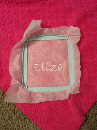 Eliza's Blankie - part 1 (machine-embroidery)