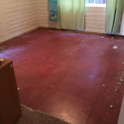 New project: vintage concrete floors