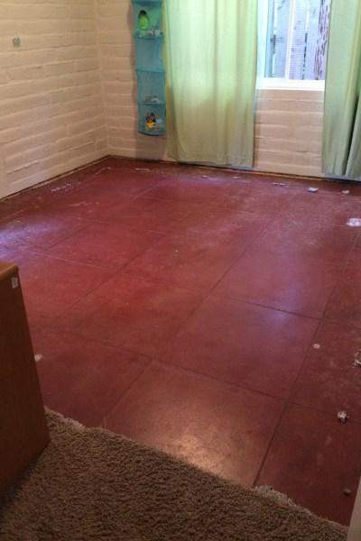 New project: vintage concrete floors