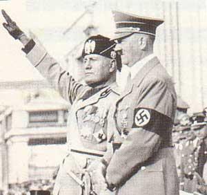 ヒトラーとムッソリーニ