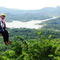 Mini flying fox Kalibiru Kulon Progo
