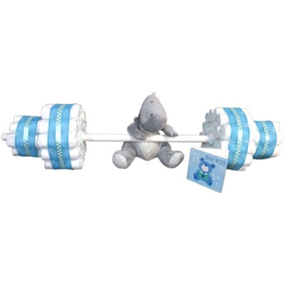 Barbell nappy stack with rhino