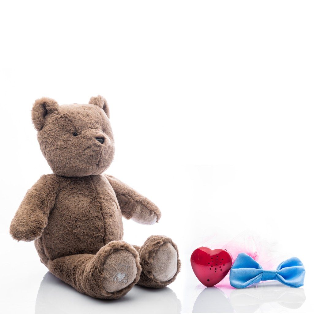 Baby Beats plush bear toy with tutu and bowtie