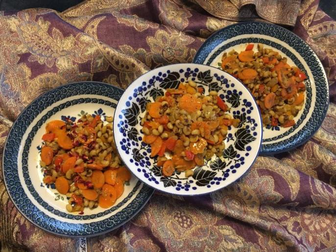 Persian-style carrots and black-eyed peas