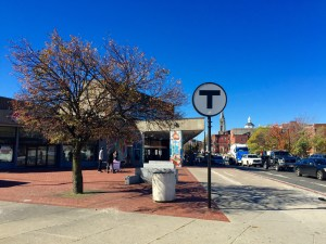 Roxbury Crossing MBTA station located on Tremont Street in Roxbury.