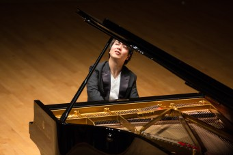 Pianist Lang Lang performs with Celebrity Series of Boston at Symphony Hall on Sunday. Photo: Robert Torres