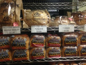 The loaves of bread in the far corner of the store weren't the most affordable, ranging from $3.89 to $5.89 per loaf.