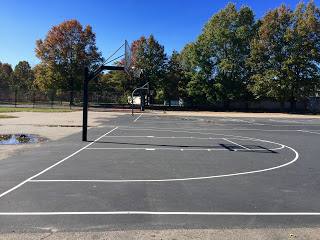 Franklin Park offers basketball courts, as well as other amenities.