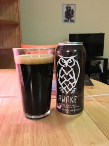 "Night Shift Brewing's ""Awake,"" an American Porter brewed out of Everett, Massachusetts. Photo by Alex Wilking."