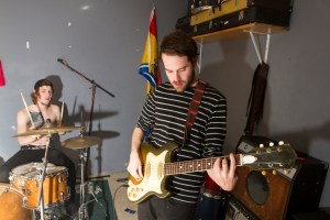 Boston band Nice Guys at their practice space .