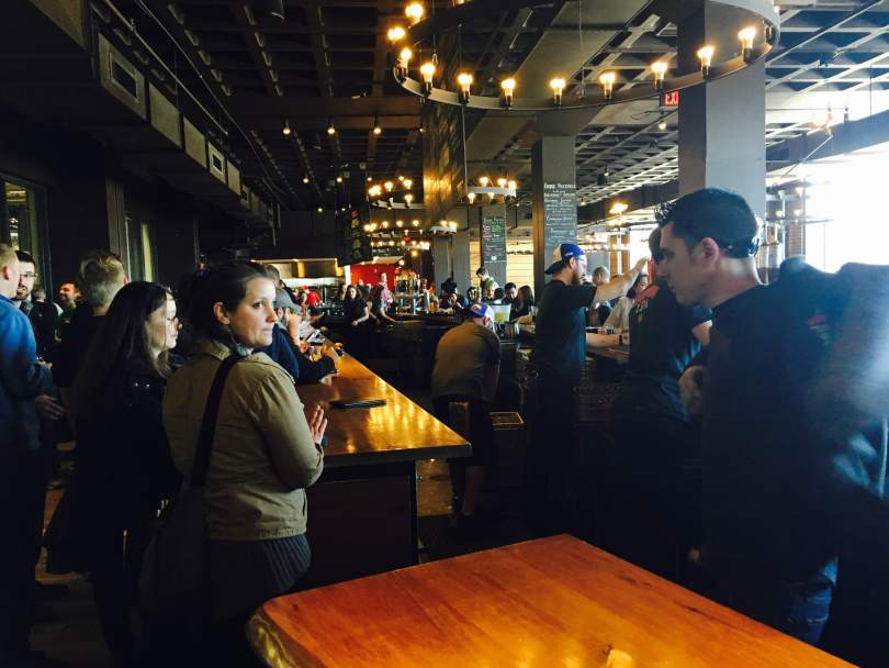 Harpoon Brewery's taproom. Photo by Alex Wilking.